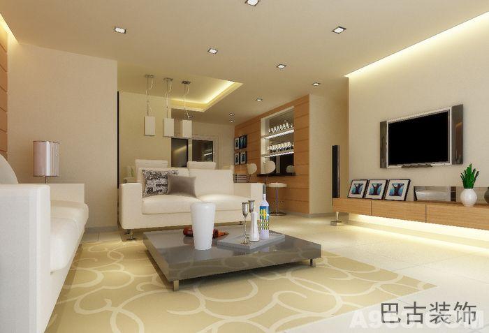 重庆85平米现代简约风格小户型装修案例 - 家装设计