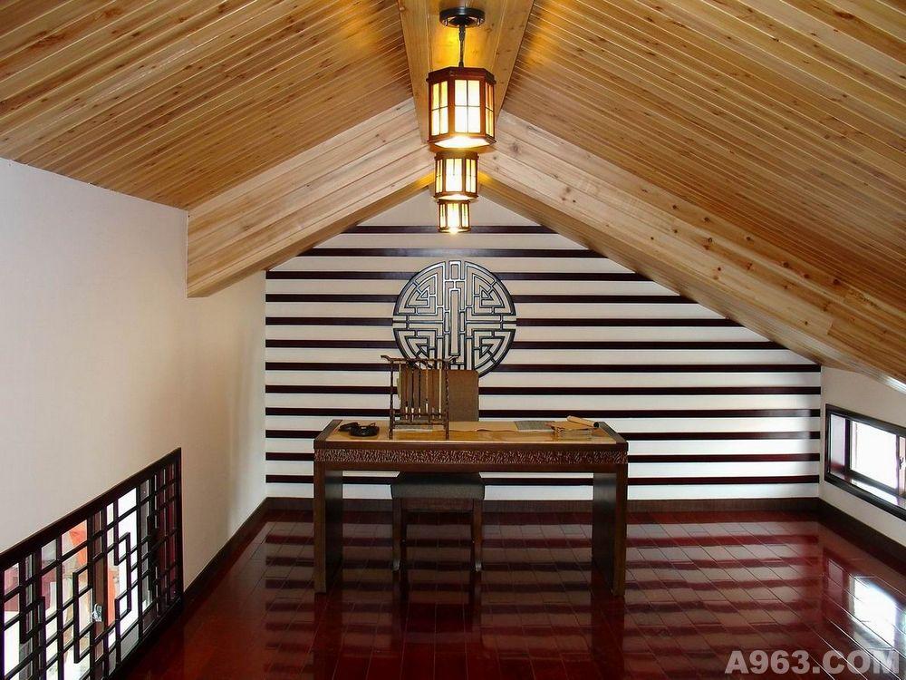 重庆跃层阁楼设计 中式日式风格设计案例 重庆设计师涂华梅图片