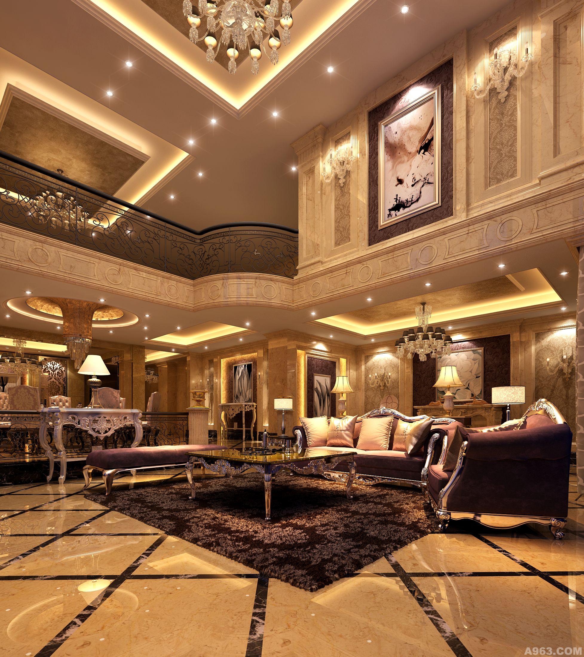 重庆斌鑫中央公园顶跃古典欧式风格设计案例图片