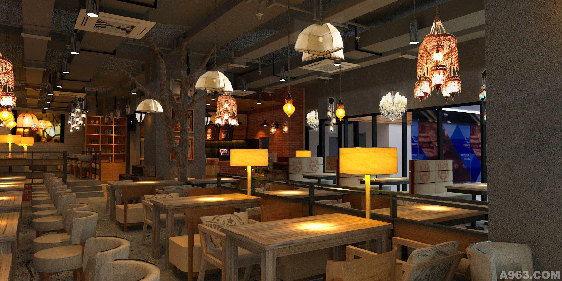西餐厅施工图效果图设计