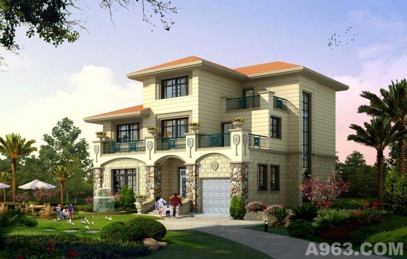 新款三层欧式别墅新农村自建房屋别墅设计施工图别墅