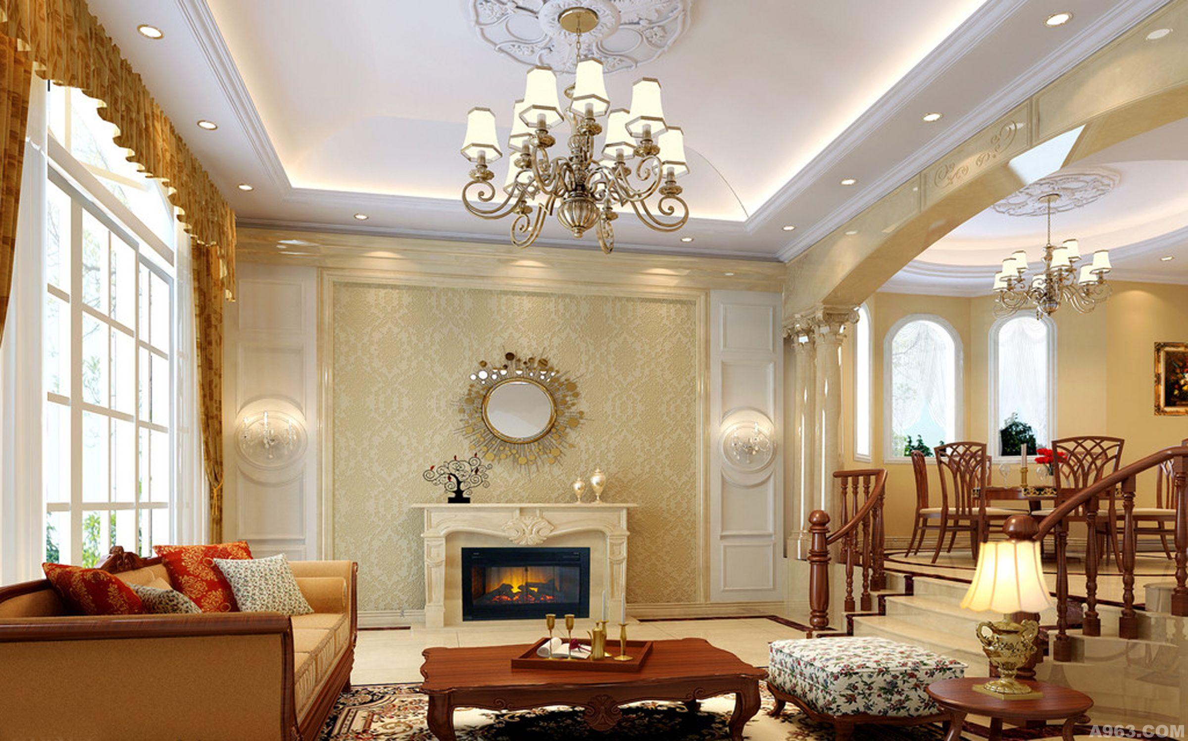 三层豪华别墅图纸 别墅建筑施工图效果图水电图设计 建筑设计装修设计