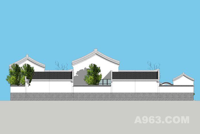 农村建筑设计自建房一二三层现代中式徽派四合院别墅图纸 效果图平面
