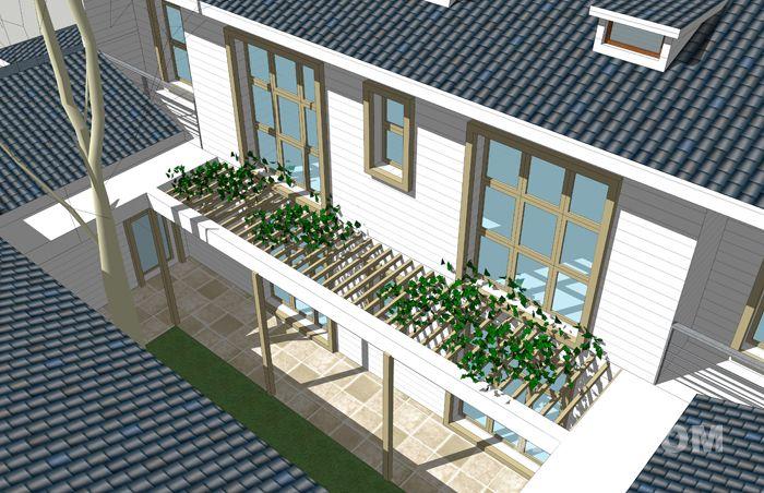 农村北方四合院效果图 专业设计统中式四合院 欧式四合院施工图建筑图