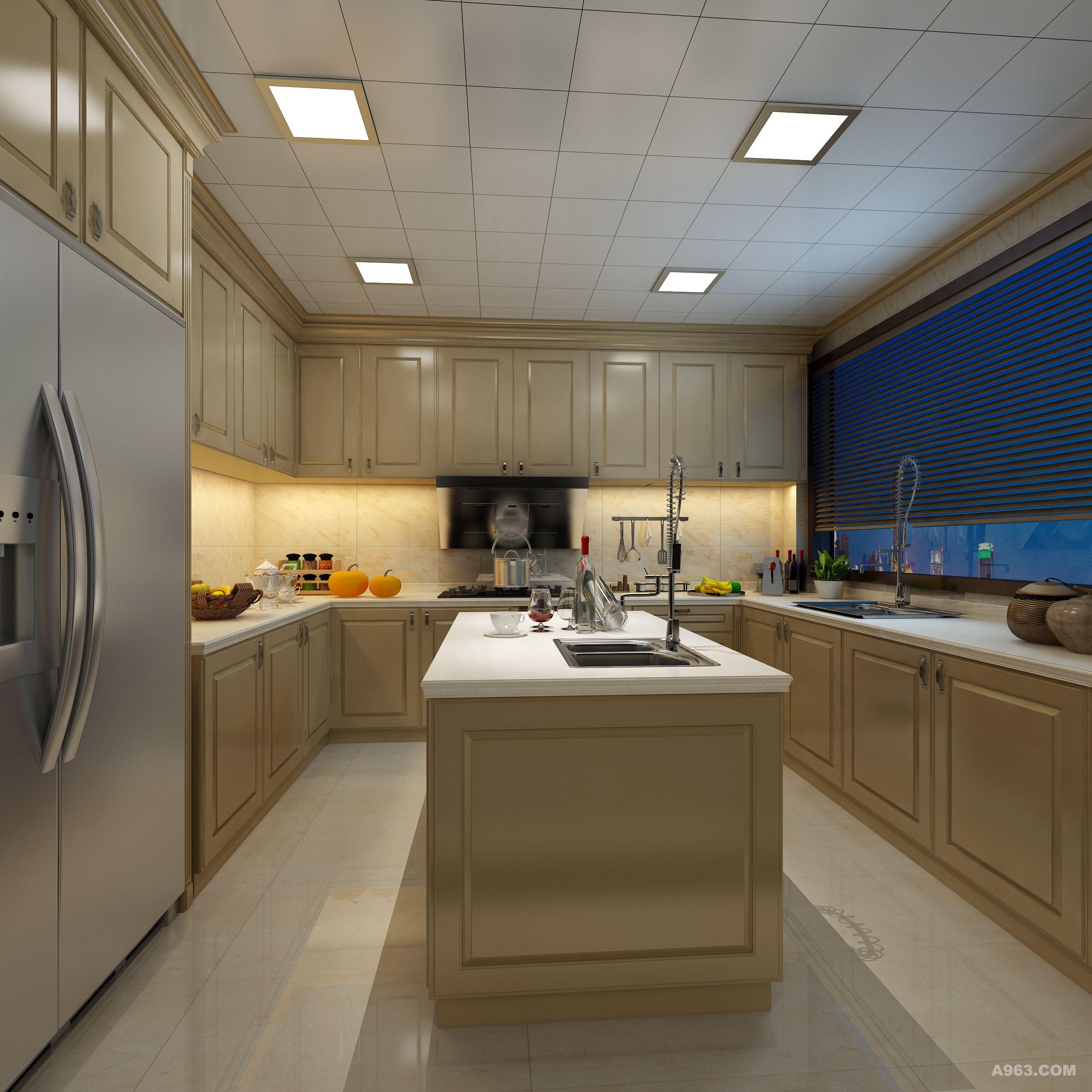 六平方米厨房设计图_设计展示广州华典园林景观设计有限公司图片