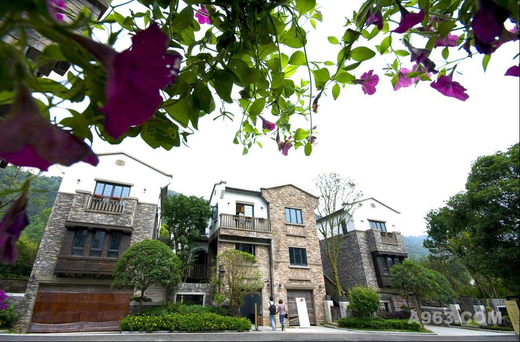 本案系一处位于重庆南山风景区旁山清水秀的幽静徽派建筑外观别墅