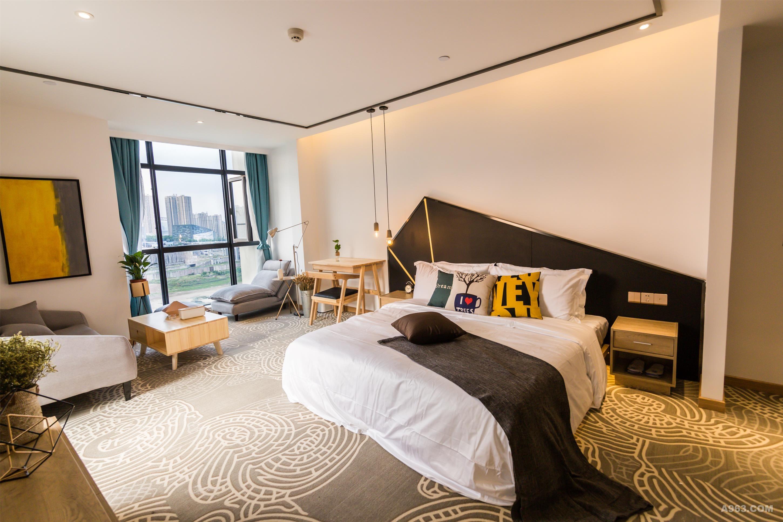 背景墙 房间 家居 酒店 起居室 设计 卧室 卧室装修 现代 装修 2900